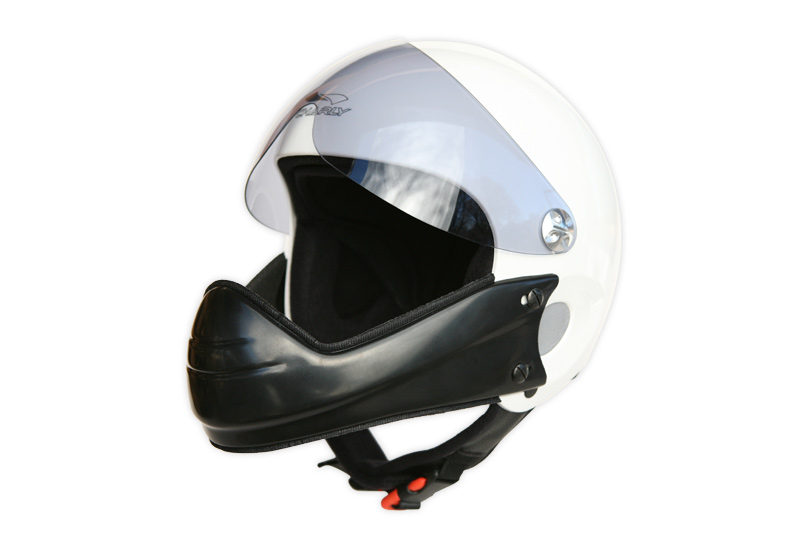 HHe5v Charly Ace white + HHe950 Visor grey + HHe510 Chin guard wide